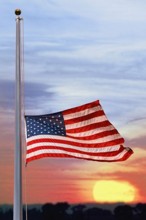 U.S. flag at half-staff