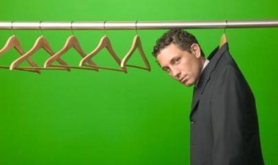 Man in closet